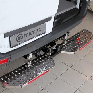 FIAT DOBLO 2010+ MARCHE-PIEDS DOUBLE L1200 EN INOX, SE FIXE SUR L'ATTELAGE METEC II 2010-2015 330,00 € product_reduction_percent