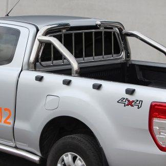 FORD RANGER 2012+ ROLL BAR EN INOX, ARCEAU DE BENNE AVEC GRILLE DE PROTECTION METEC Ranger 740,00 € product_reduction_percent
