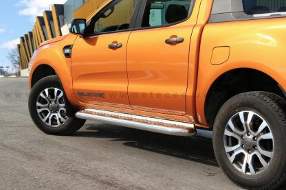 FORD RANGER 2012+ SUPER CABINE, DOUBLE CABINE, MARCHE PIEDS HOMOLOGUE INOX, SIDE STEPS DIAM 76MM METEC MARCHE-PIEDS, SIDE STE...