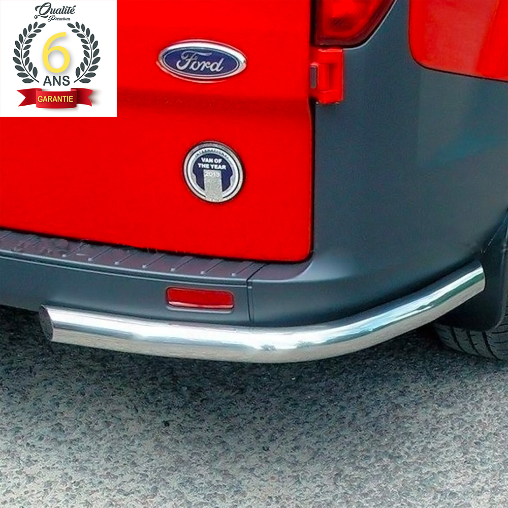 PROTECTION ARRIERE INOX SUR FORD TRANSIT CUSTOM 2013-2017