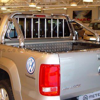 VW AMAROK 11-16 ROLL BAR EN INOX, ARCEAU DE BENNE AVEC GRILLE DE PROTECTION METEC Volkswagen 650,00 €