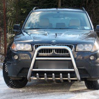 BMW X3 2003-2005 PARE-BUFFLE HAUT AVEC GRILLE DE PROTECTION CARTER EN INOX X3 429,00 €