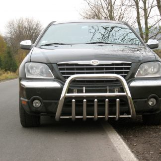 CHRYSLER PACIFICA 02-07 PARE-BUFFLE BAS AVEC GRILLE DE PROTECTION CARTER EN INOX Chrysler 389,00 €