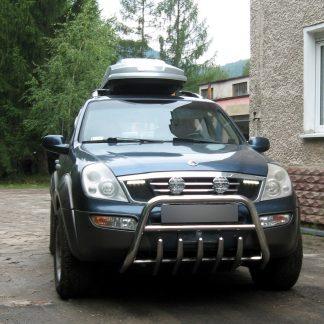 SSANGYONG REXTON 2001-2005 PARE-BUFFLE BAS AVEC GRILLE DE PROTECTION CARTER INOX Rexton 389,00 €