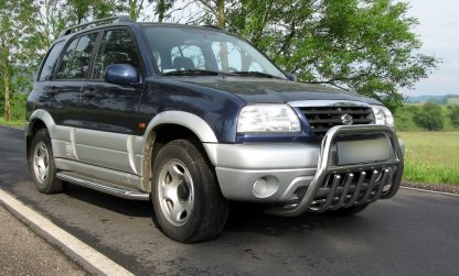 SUZUKI GRAND VITARA 1998-2005 PARE-BUFFLE BAS AVEC GRILLE DE PROTECTION INOX Grand Vitara 389,00 €