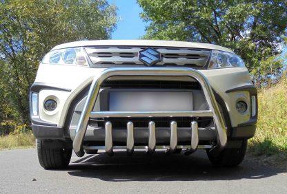 SUZUKI VITARA II 2015+ PARE-BUFFLE BAS AVEC GRILLE DE PROTECTION CARTER EN INOX Vitara 389,00 €