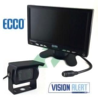 """ECCO - CAMERA DE RECUL INFRA 18LED + ECRAN LCD 7\"""" MULTIMEDIA 230,00 €"""