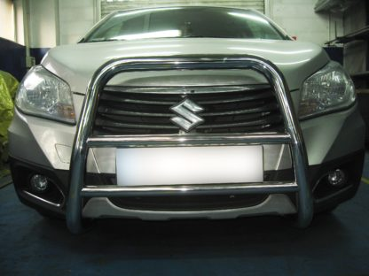 SUZUKI SX4 S-CROSS 2013+ PARE-BUFFLE HAUT SANS GRILLE DE PROTECTION CARTER EN INOX SX4 S-Cross 389,00 €