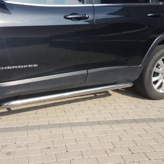 JEEP CHEROKEE KL 2014+ PROTECTIONS LATERALES COURBÉES EN INOX DIAM 60MM, SIDE BAR 2014+ 330,00 €