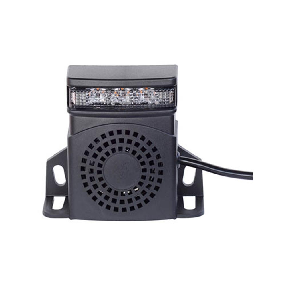 ALARME DE RECUL LUMINEUX LED 9-80V DC, 92-107DB, IP67, ECE R10