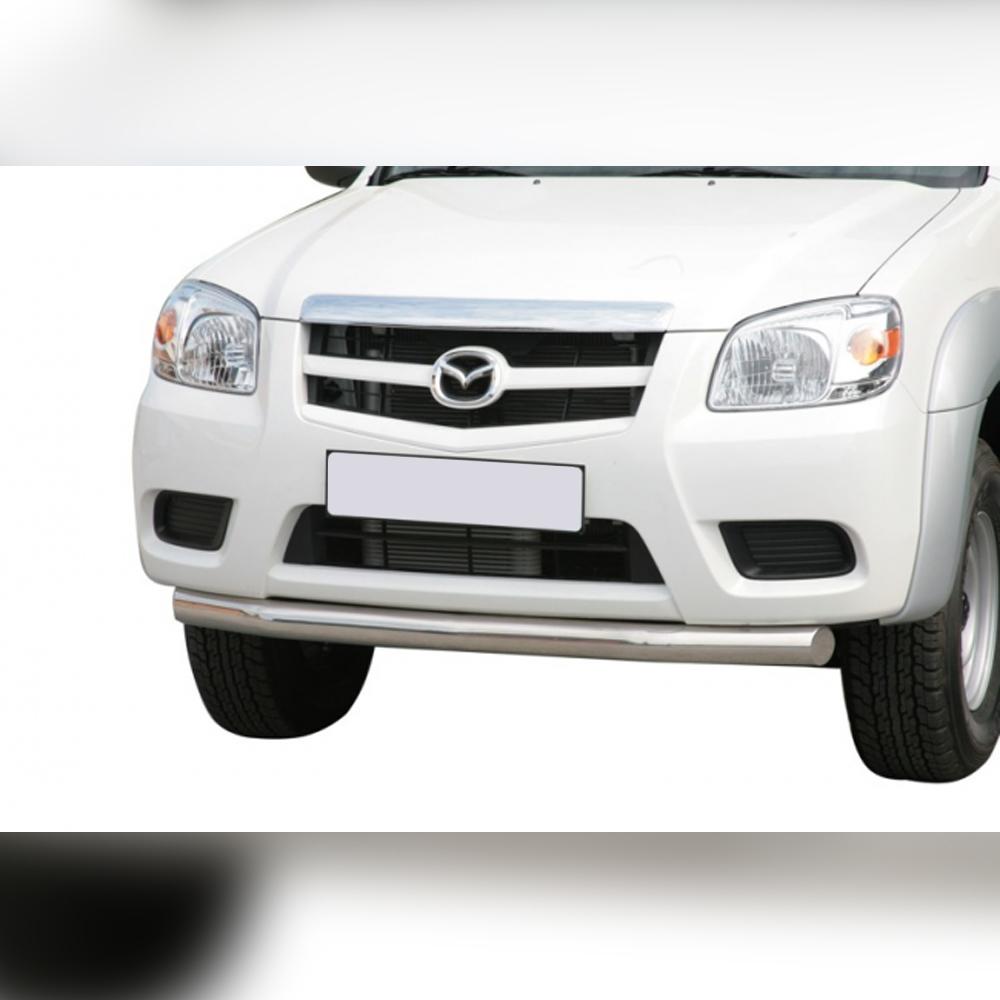 BARRE SOUS PARE-CHOC INOX SUR MAZDA BT50 DOUBLE CAB 2009-2012