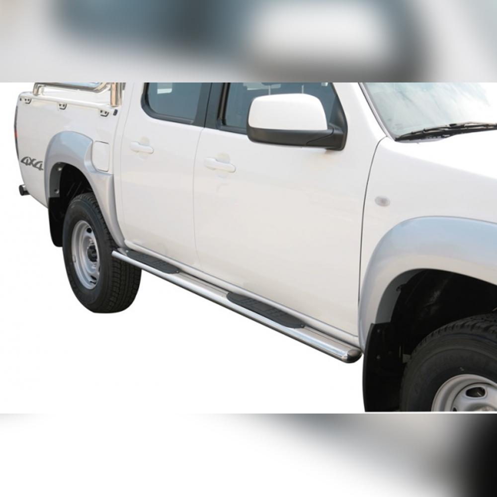 MARCHE-PIEDS GPO INOX SUR MAZDA BT50 DOUBLE CAB 2009-2012