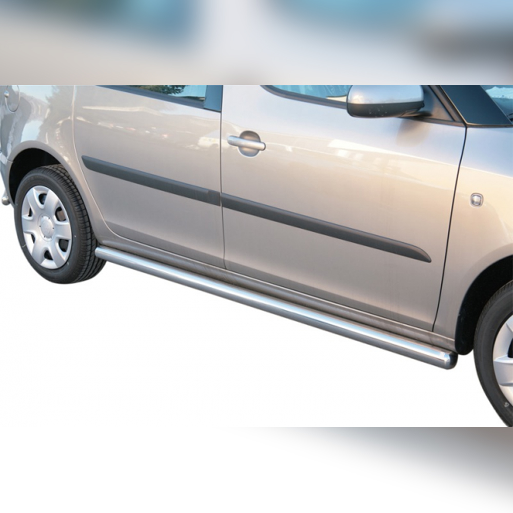 PROTECTION LATERAL TPS INOX SUR SKODA ROOMSTER 2007-2015