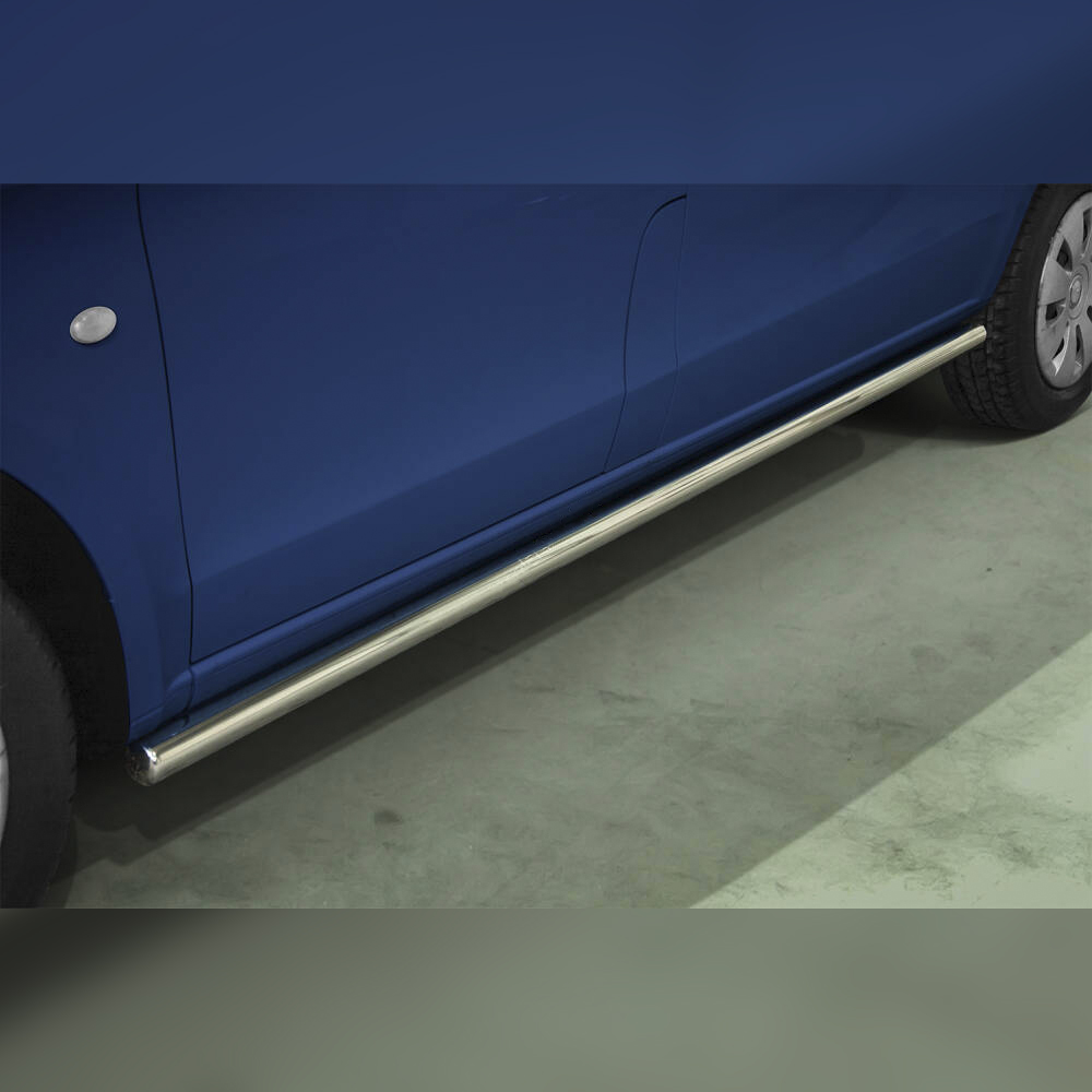PROTECTION LATERALE INOX SUR MERCEDES V-CLASS 2014-2019