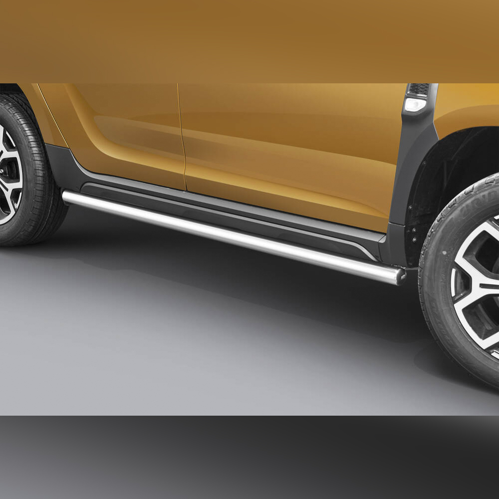 PROTECTION LATERAL INOX SUR DACIA DUSTER 2018+