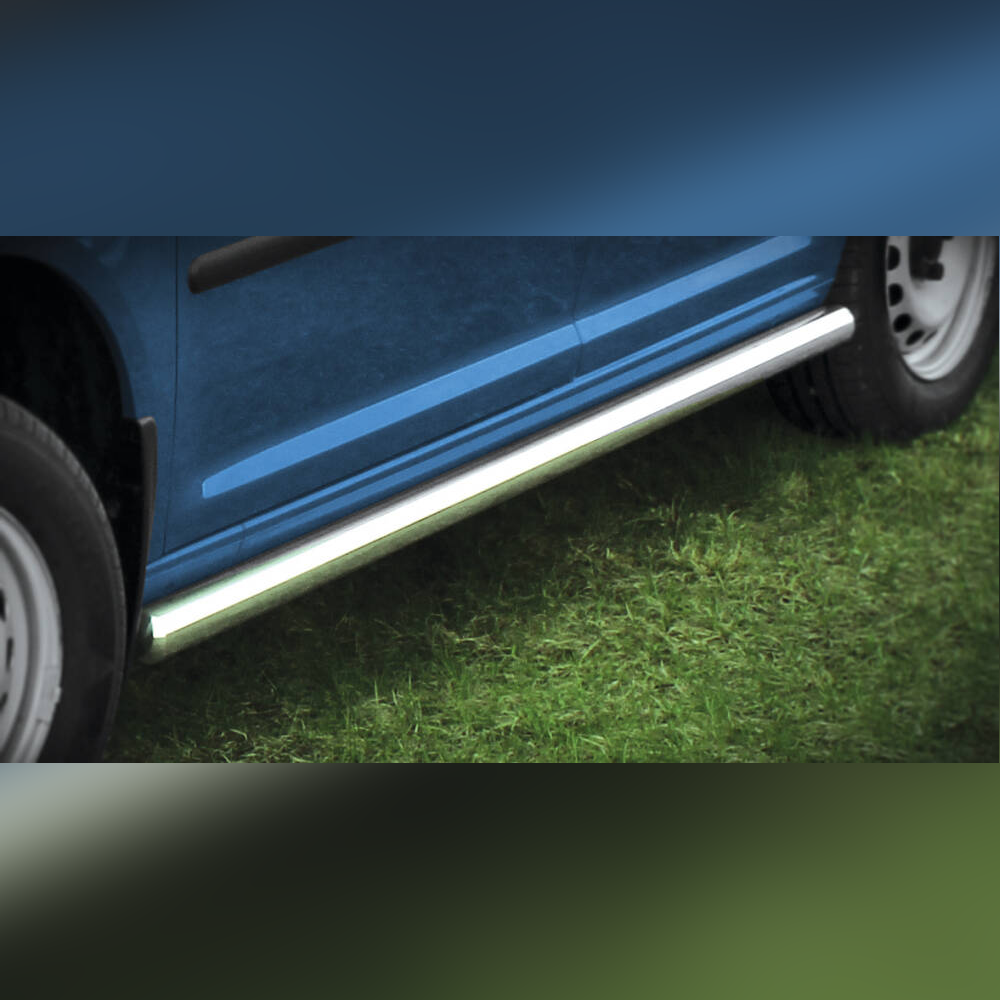 PROTECTION LATERALE INOX SUR VOLKWAGEN CADDY 2010-2015